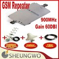 Gain 60DBI 900MHz 500Square meters coverage area, phone signal booster repeater Amplifier + indoor,outdoor antenna with cable