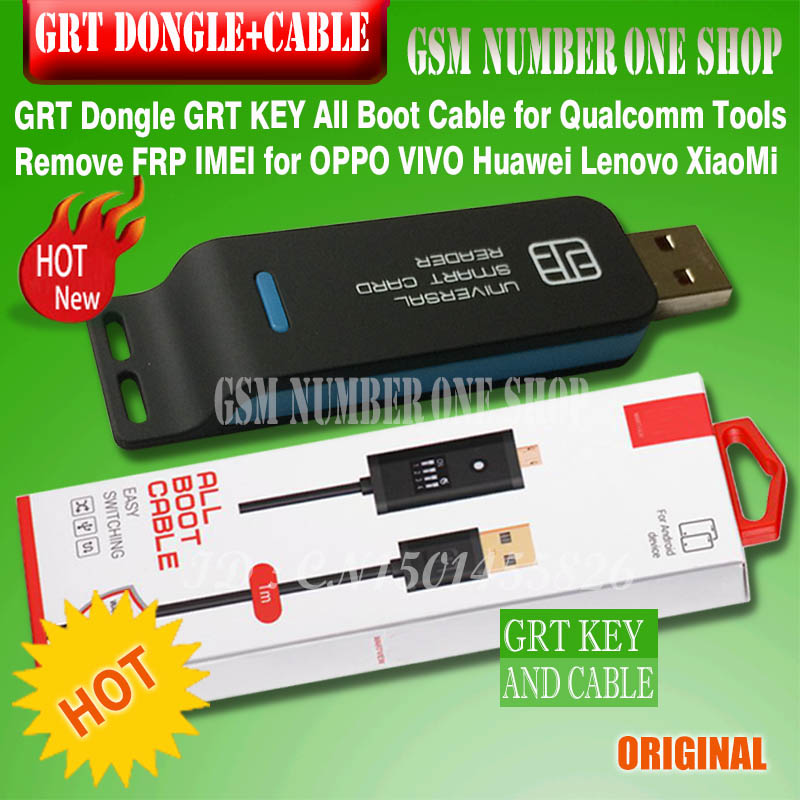 GRT Dongle GRT KEY All Boot Cable Micro USB RJ45 All In Onefor Qualcomm Tools Remove FRP IMEI For OPPO VIVO Huawei Lenovo XiaoMi