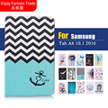 For Samsung Galaxy Tab A 10.1 T580 T585 SM-T580 T580N Tablet Case Fashion Printed cloth smart PU Leather Protective Cover Shell