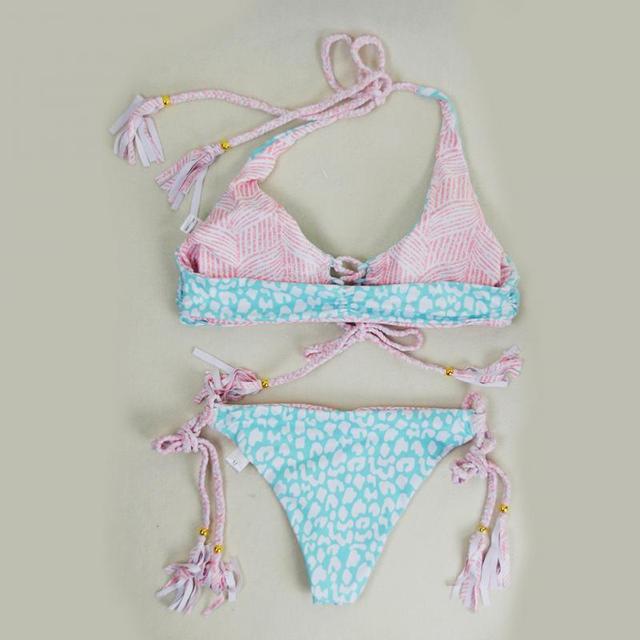 String Hanging Neck Bikini
