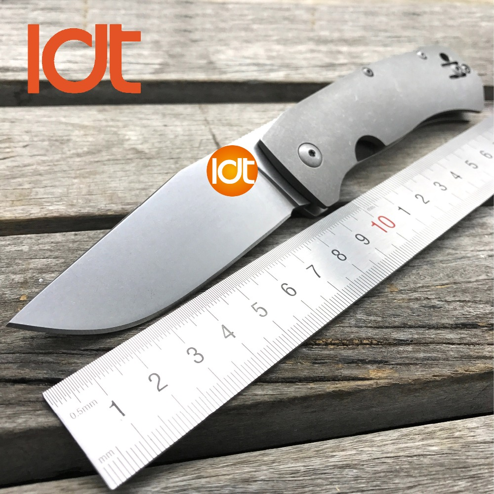 LDT Tactical Folding Knives D2 Blade TC4 Titanium Handle Pocket Survival Knife Camping Hunting Outdoor OEM Utility Tools EDC oem gear heat fixed blade knife cpm s30v blade tactical knife camping hunting survival knives utility pocket cutter edc tools