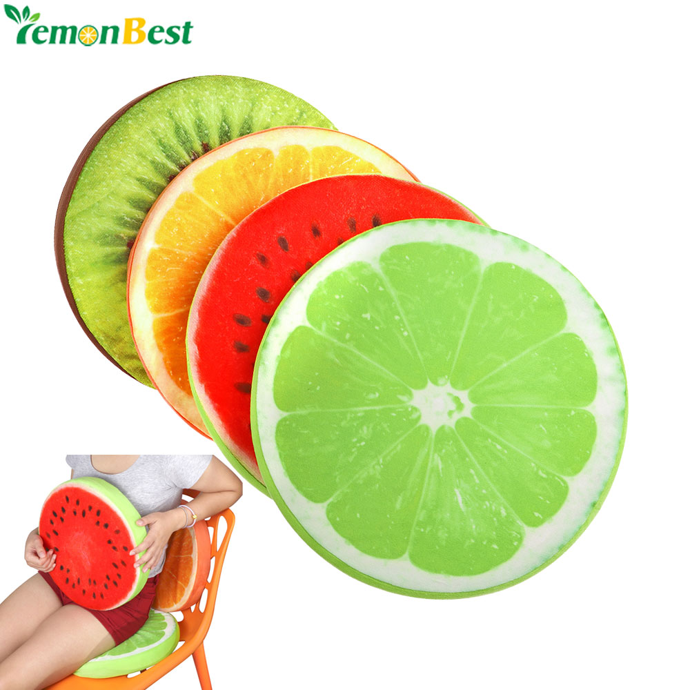 Fruit Seat Pad Back Cushions Home Decor Round Cushion