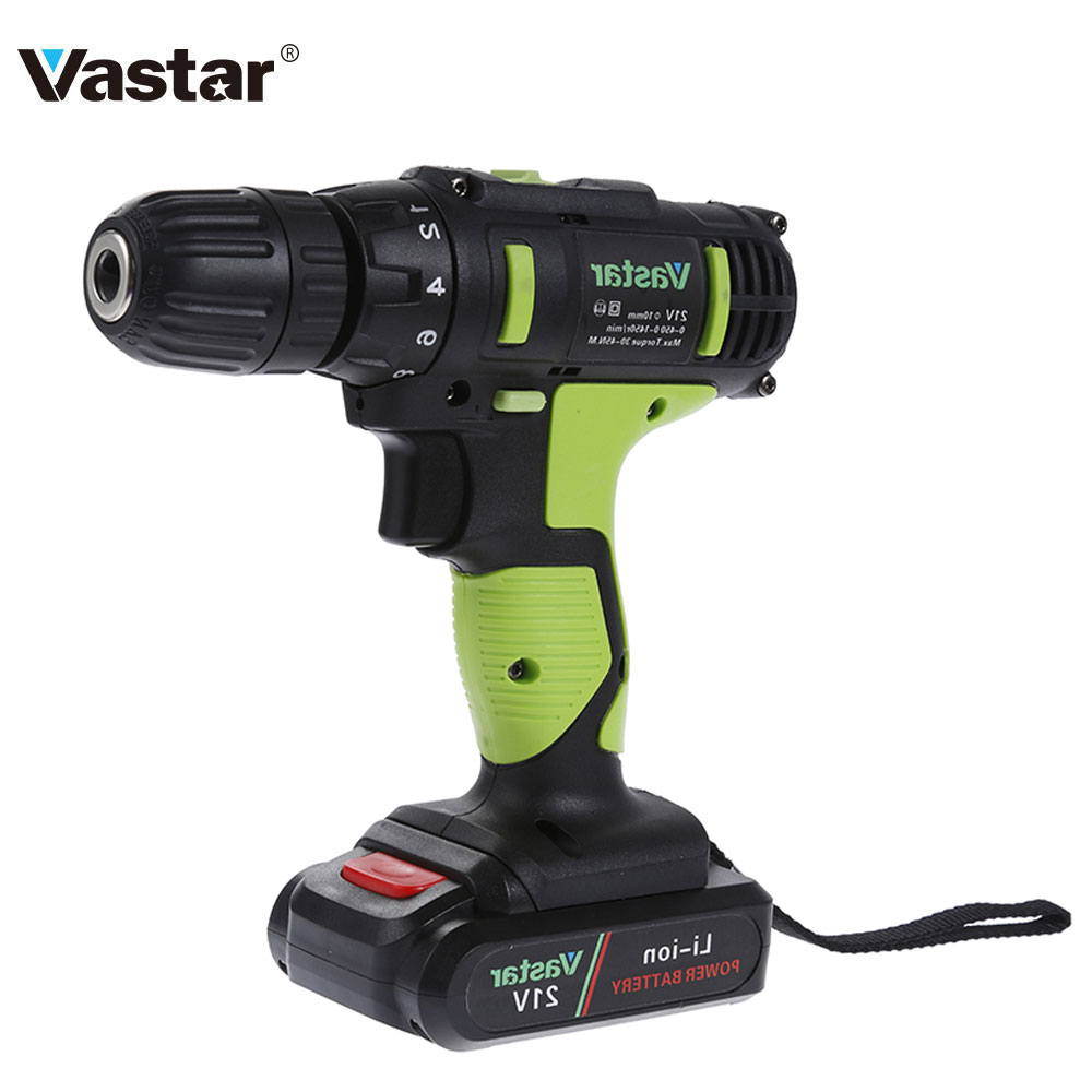 vastar 21v electric drill driver power tools dual speed up to