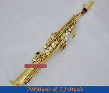Professional Gold Straight Sopranino Saxophone sax Eb Low Bb high F# With Case