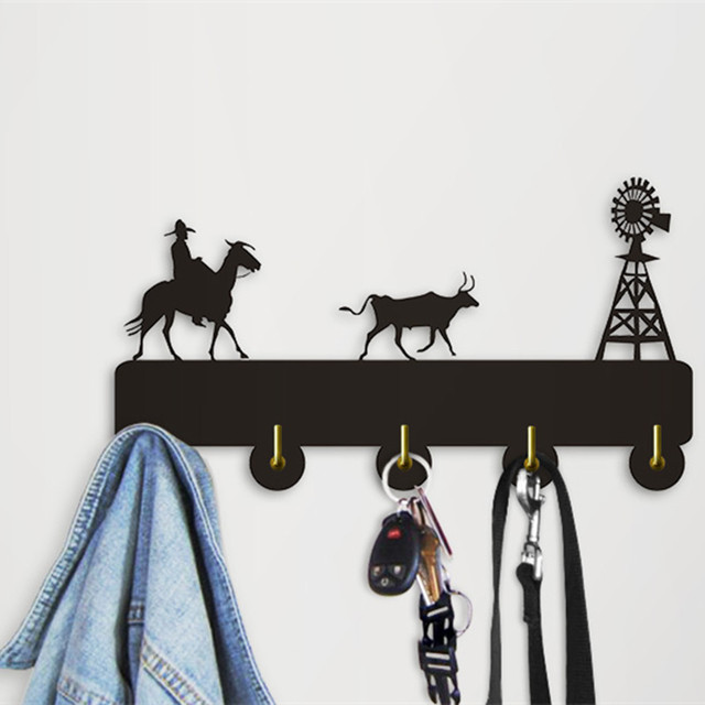 1Piece Rural Scenery Theme Cowboy Horse Cow Windmill Wall Mounted ...