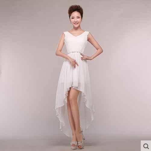 a7e0e1bc4c9cb ... Vestido madrinha 2019 new sexy v neck shiny diamond chiffon high low bridesmaid  dresses coral color ...