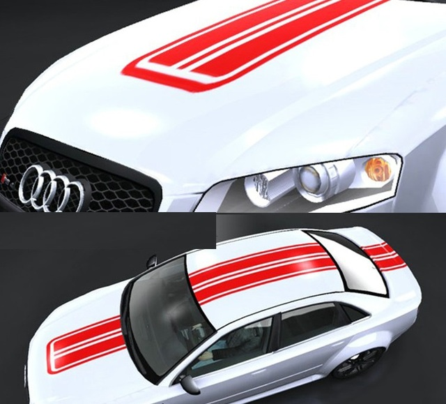 5 colors stripe tailor made whole body car stickers waterproof car acessories vinyl fresh car