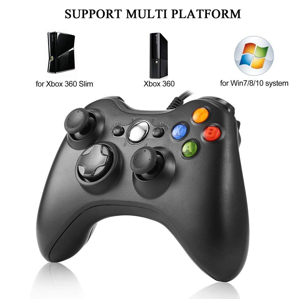 Zorx USB Wired Joystick Gaming Controller for Microsoft for Xbox 360 Slim Console for Windows 7 8 10 PC Gamer Box Joypad GamePadZorx USB Wired Joystick Gaming Controller for Microsoft for Xbox 360 Slim Console for Windows 7 8 10 PC Gamer Box Joypad GamePad
