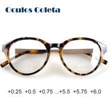 Gafas de lectura de acetato de Corea para mujer vintage + 0,25 + 0,5 + 0,75 + 1,25 + 1,5 + 1,75 + 2,25 + 2,5 + 2,75...