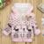 Cervos do natal de Impressão Casaco Rosa Bebê Meninas Casaco de Inverno Quente Jaqueta Com Capuz Dos Desenhos Animados Dot Criança Das Crianças Das Crianças de Algodão-acolchoado roupas