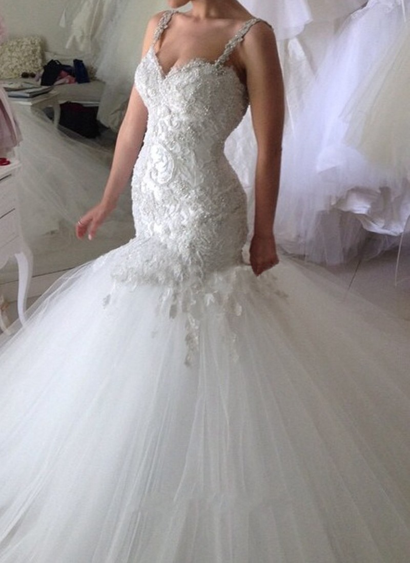 2016 robe de mariage appliques lace mermaid wedding dresses low 2016 robe de mariage appliques lace mermaid wedding dresses low cut back plus size bridal gown custom vestido de noiva zy4636 in wedding dresses from ombrellifo Images