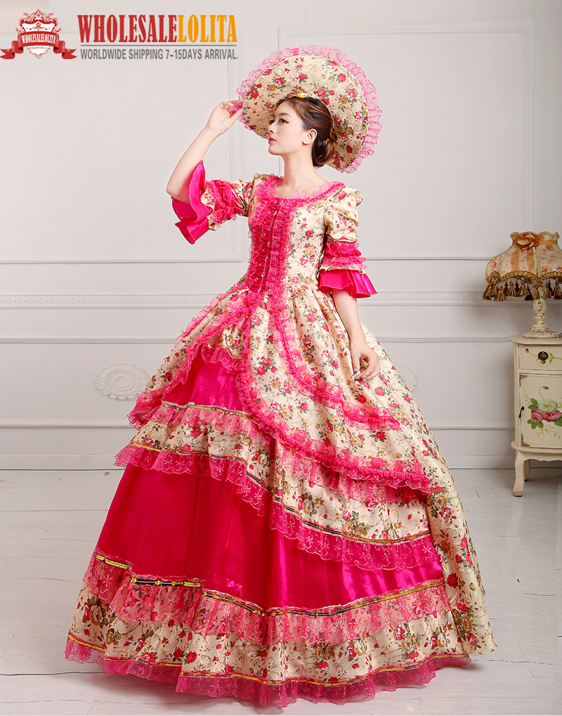 18th Century Period Court Dress southern belle weddings/ Marie Antoinette gowns/Victorian Style Dresses sizes XS 3XL