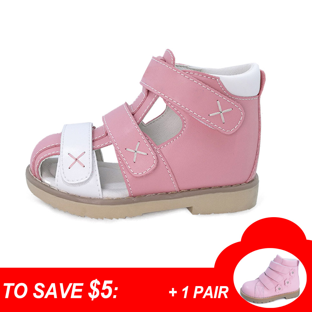Baby girls genuine leather orthopedic shoes children flat foot sandal kids orthopedic shoes with arch support insole princepard genuine leather boys girls orthopedic footwears include orthotic arch support flat foot kids shoes baby shoes