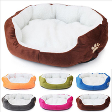 Dog Cat Bed House Winter Warm Soft Sherpa Padded Cashmere Pet Nest Dog Sofa Cushion Bed