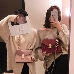 Image 4 - Luxury Handbag Retro Fashion lady Square bag 2020 New Quality PU Leather Womens Designer Handbag Chain Shoulder Messenger Bags