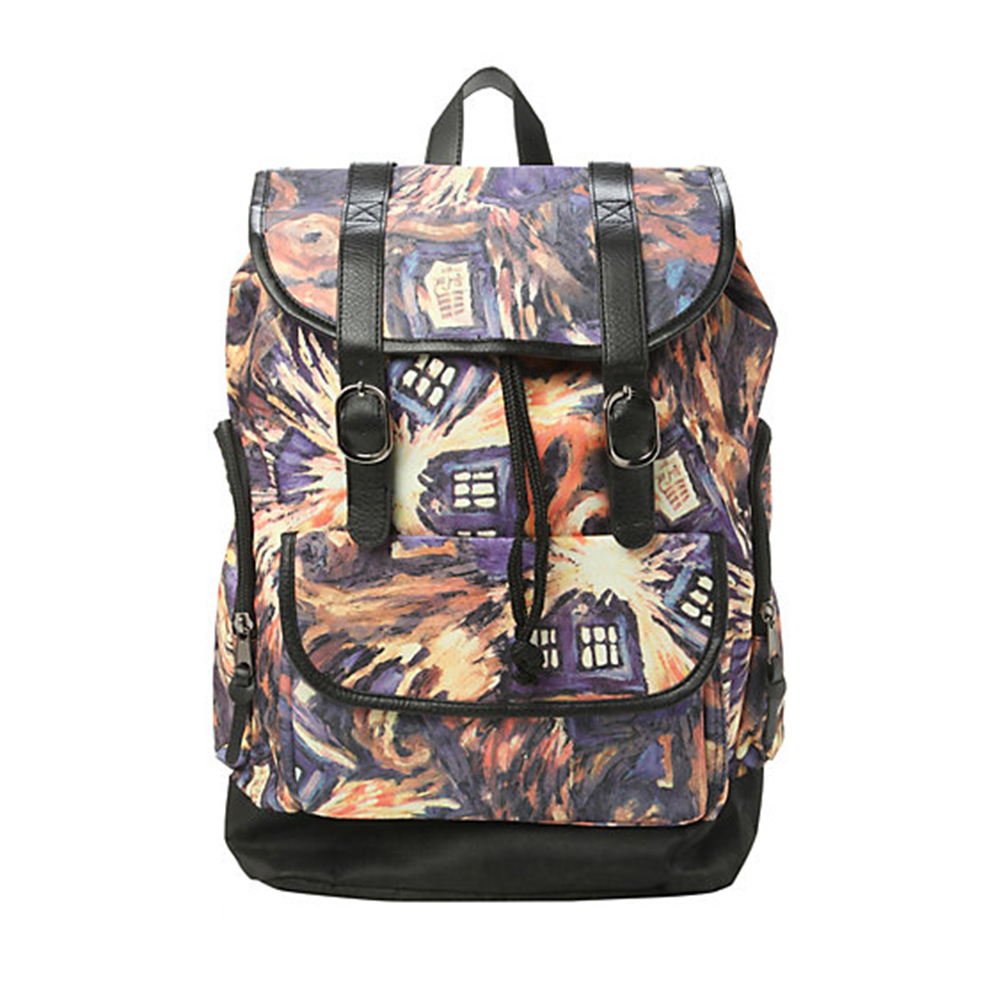 Doctor Dr Who Exploding Tardis Backpack Bag With Tag in stock Men's Backpacks Double Shoulder Bag Large capacity, high quality