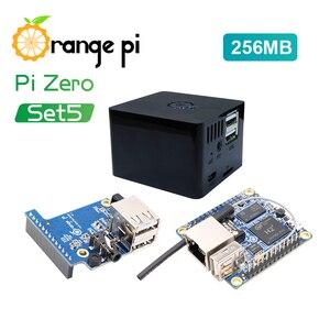 Image 1 - Оранжевый Pi Zero 256MB + плата расширения + черный чехол, мини набор с одной доской