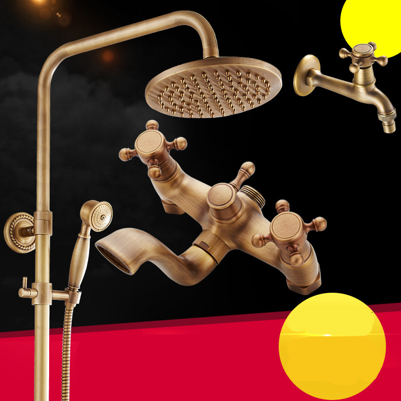 JOMOO Water Saving Self clean Nozzle Shower Head Bathroom Shower Set Chromed Wall Mounted Brass Slide Bar Shower Hose Soap Dish - 5