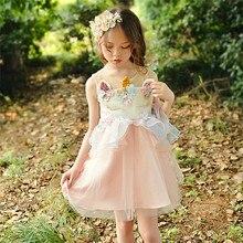 2019 New Unicorn Girl Christmas Dresses Soft Wear Princess Dress Childrens Clothing Cute Kids for Girls G509
