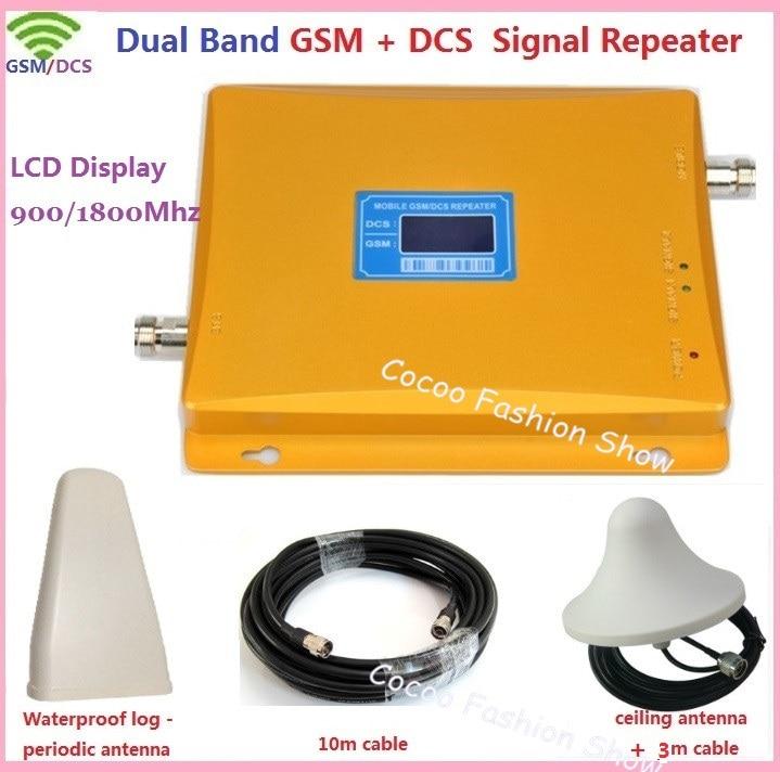 Dual Band GSM 3g Repeater GSM 4g 900 1800 mhz Handy-Signal-Repeater Booster GSM DCS Zelle telefon Signal Verstärker + Antenne
