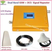 ZQTMAX 2G 4G Мобильный усилитель двухдиапазонный 900 1800MHz GSM DCS LTE Усилитель сотового сигнала с кабельной антенной комплект