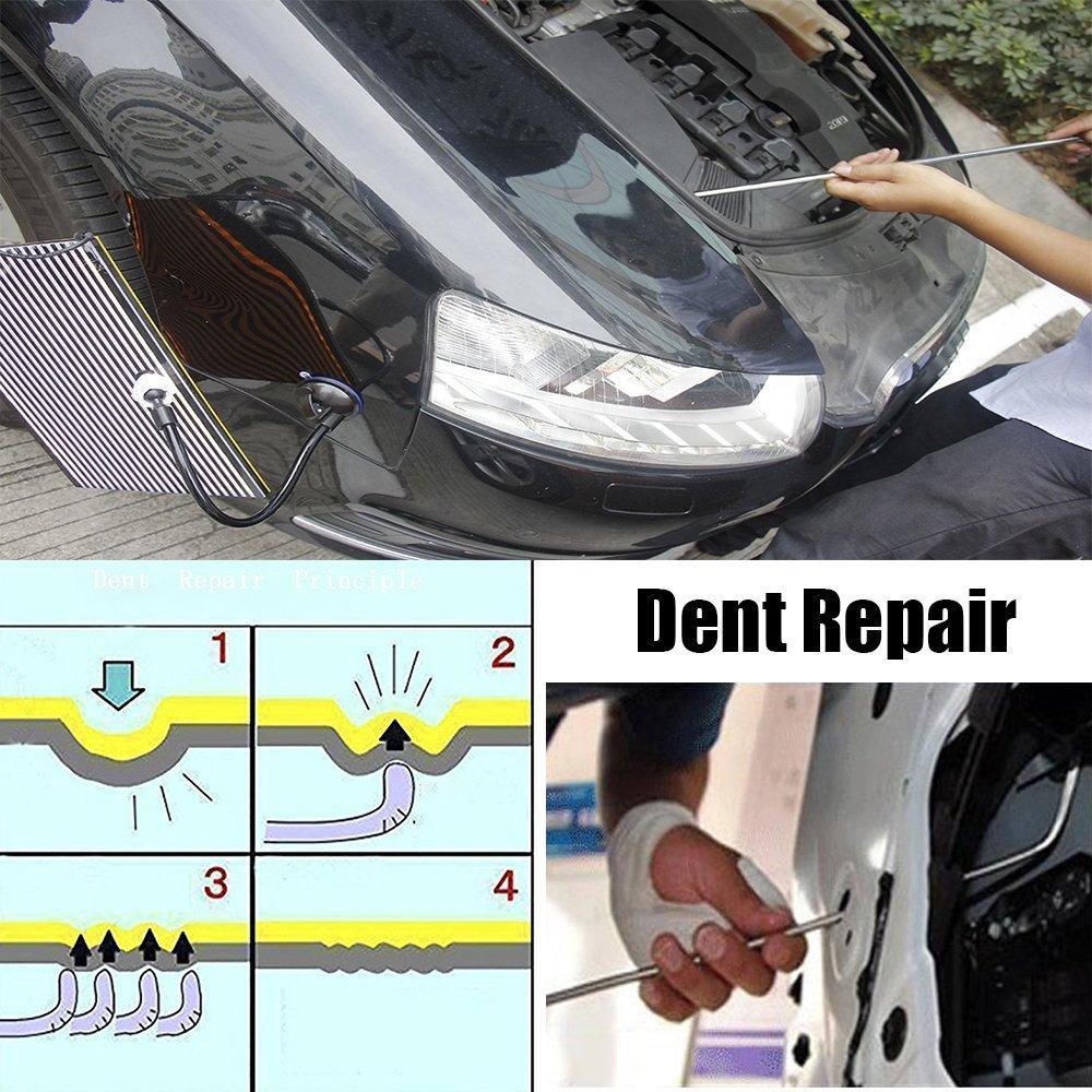3pcs Car Paintless Dent Puller Rods Hail Removal Tools Car Body Repair Kit