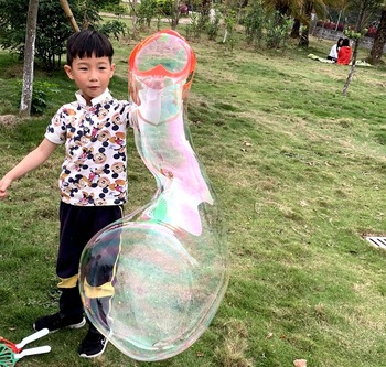 Heart Shape Outdoor Toys Water Blowing Bubbles Guns Bubbles Machine Blower Wand Sticks Without Water Soap navidad