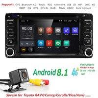 Hizpo 2 din Android 8,1 автомобильный мультимедийный DVD плеер для TOYOTA RAV4 2006 2007 2009 2010 автомобилей Радио Стерео gps навигации WI FI TPMS