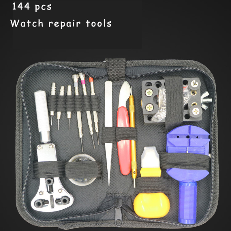 144PCS Multifunction Watch Tool Fix Kit Pin Set Watch Case For Watchmaker Opener Bracelet Link Repair Tool Screwdriver Tweezer