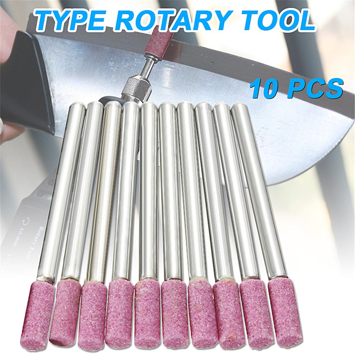 Wholesale Price 10pcs/set Abrasive Mounted Grind Stones Rotary Tool Chainsaw Sharpening For Dremel HQ