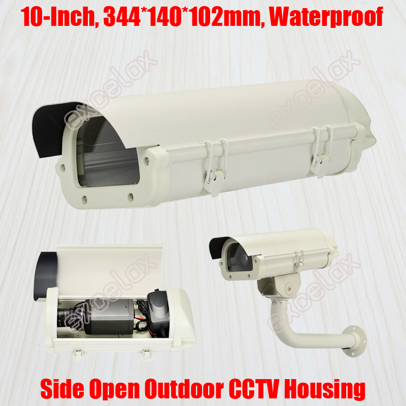 10 IP66 Waterproof CCTV Camera Housing 344x140x102mm Aluminum Alloy Outdoor Enclosure Case for Security Box Zoom