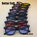 M1238 Colorful Spectacles UV400 Eyewear Stylish Eyeglasses Square Sunglasses Men