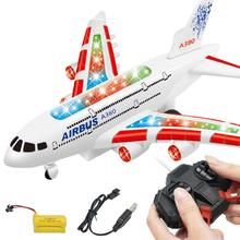 A380 Airbus Toys RC Airplane with Music Lights Large Electri