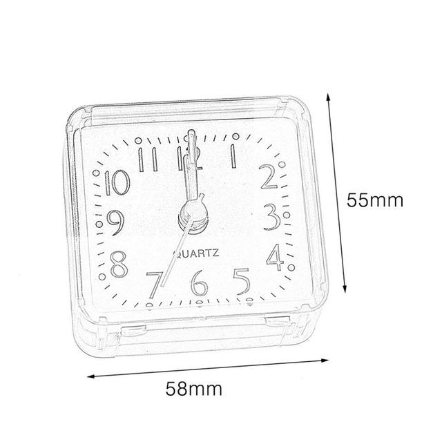 Small Square Crystal Alarm Clock Creative Cute  Alarm Clock Bedroom Bedside Office Electronic Clock