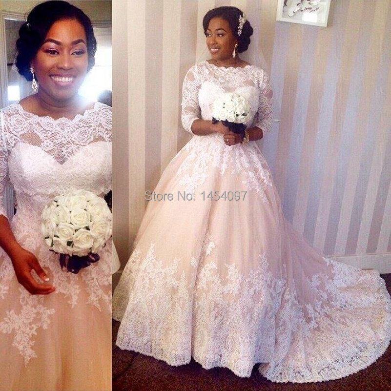 Aliexpress.com : Buy Vestidos De Novia Lace Wedding Dresses Plus ...