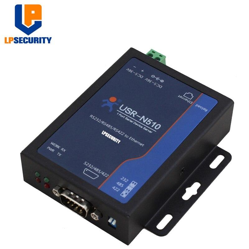 LPSECURITY USR-N510 RS232/RS485/RS422 Single Port Ethernet Converter Modbus Gateway
