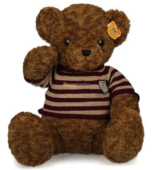все цены на  Fancytrader 2015 New High Quality Teddy Bear Toy jumbo 59'' 150cm Giant Plush Stuffed Teddy Bear, 2 Colors Free Shipping FT90447  в интернете