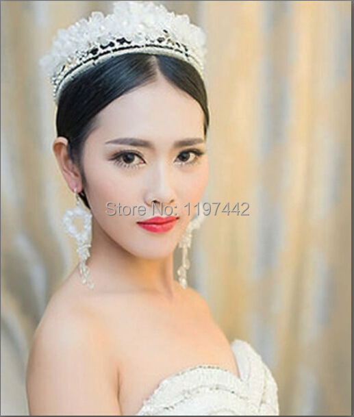 HG118 the new wedding bridal jewelry with pearls handmade lace headdress head flower jewelry hair accessories bridal headdress