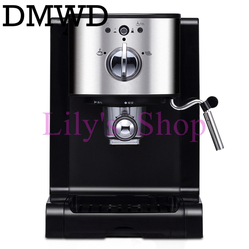 DMWD Italian capsules Coffee machine cappuccino commercial milk foam Bubble instant heating electric espresso coffee maker 20bar 220v commercial single double head milkshake machine electric espresso coffee milk foam frother machine bubble maker