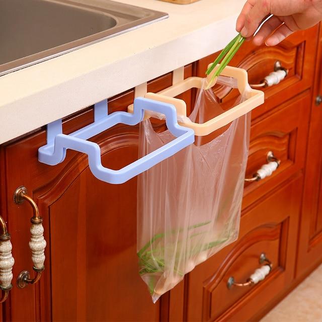 1Pcs Kitchen Garbage Bag Holder Hanging Cabinet Towel Gloves Kitchen  Utensils Shelves Bathroom Towel Hanger Kitchen