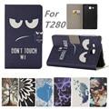 Для Samsung Galaxy Tab A 7.0 SM-T280 SM-T285 принципиально мультфильм печати pu Кожаный чехол для Samsung T280 T285 случае Таблетки случаях