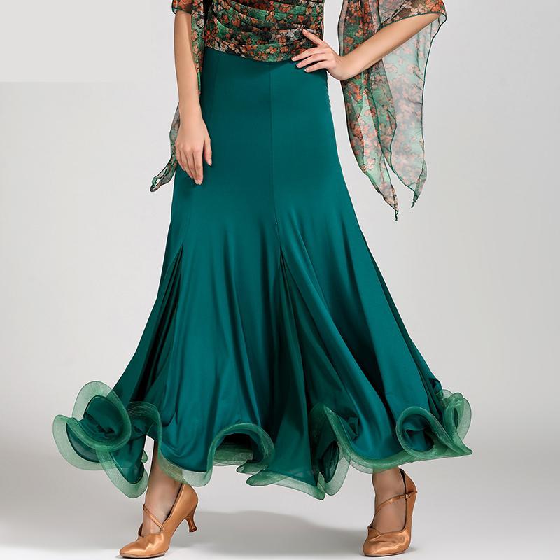 Nouveau femmes danse de salon jupe fête Performance tenues pour moderne Standard valse Tango danse robe espagne danse compétition