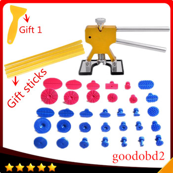 34pcs/set PDR Tools Paintless Dent Repair Tools Dent Removal Dent Puller Tabs Dent Lifter Hand Tool Set PDR Tool for Car's Hole цена 2017