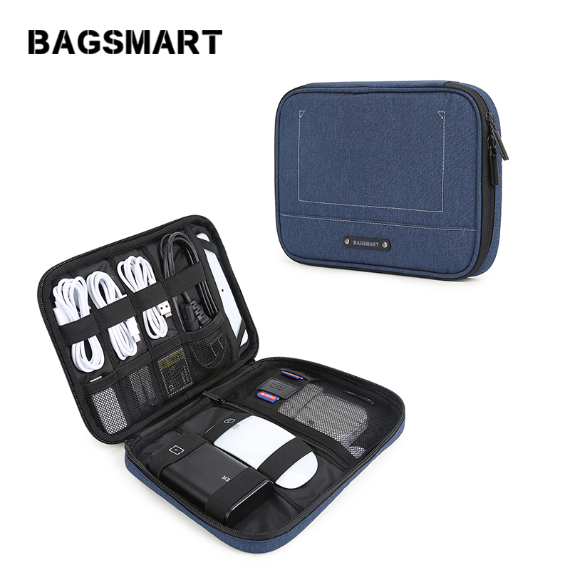 BAGSMART Electronic Organizer Travel Cable Organizer Electronics Accessories Cases For 7.9'' IPad Mini, Cables, Chargers, USB