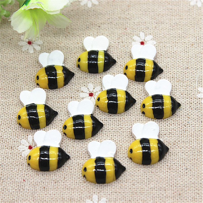 MINIATURE 3 PC RESIN BUMBLE BEES Bee FAIRY GARDEN by YARD /& GARDEN Handcrafted