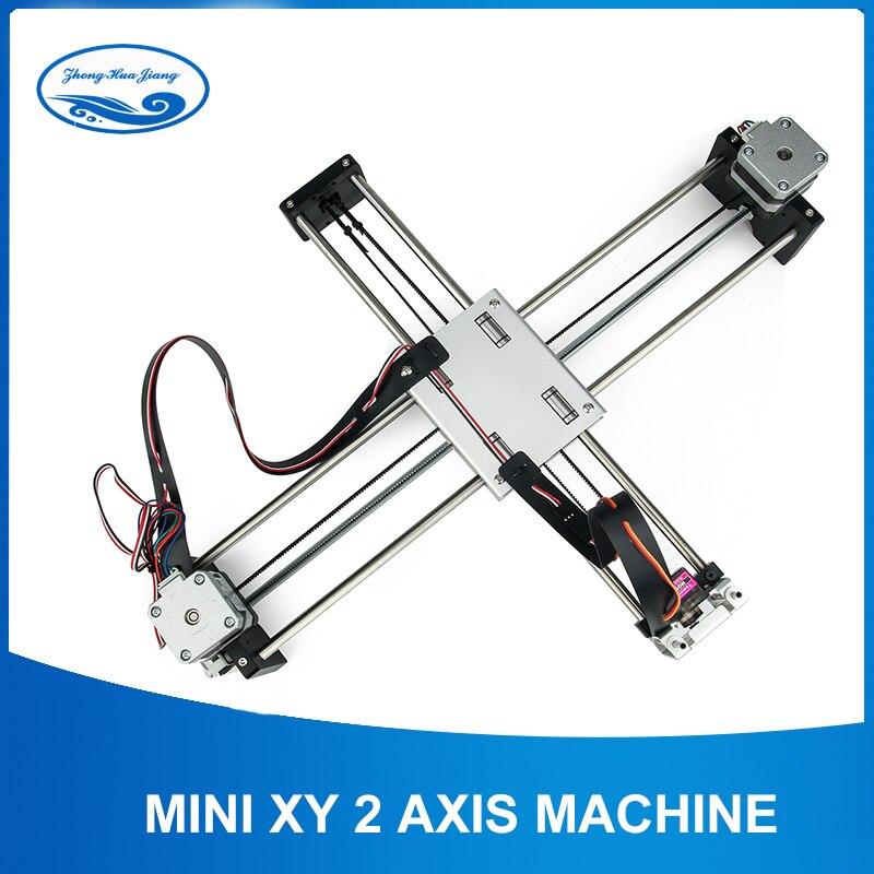 Bricolage intelligent écriture dessin Robot Mini XY 2 axes CNC stylo traceur Machine avancée jouet moteur pas à pas lecteur 32X22 cm course