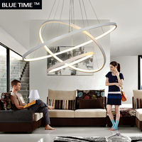 Fashional Super Thin Modern Chandeliers Circle Rings Led Chandelier Light For Indoor Lighting AC 85 260V