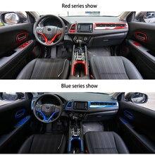 ABS Chrome פנים Trim fit עבור HR V Vezel רכב מרכז קונסולת פנים Trim מלא סט פלסטיק Mouldings אביזרי רכב סטיילינג