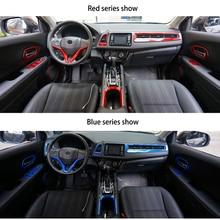 ABS Chrome wykończenie wnętrza pasuje do HR V Vezel konsola główna samochodu wykończenie wnętrza komplet plastikowych listew akcesoria samochodowe stylizacja