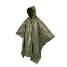 Capa de lluvia multifuncional de una pieza Poncho capa lona para acampar senderismo